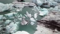 The Jokulsarlon glacial lagoon, bordering Vatnajökull National Park in southeastern Iceland