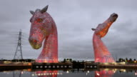 The Kelpies a contemporary sculpture designed by Andy Scott