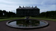 The Kinross House overlooks a fountain in the gardens. Available in HD.
