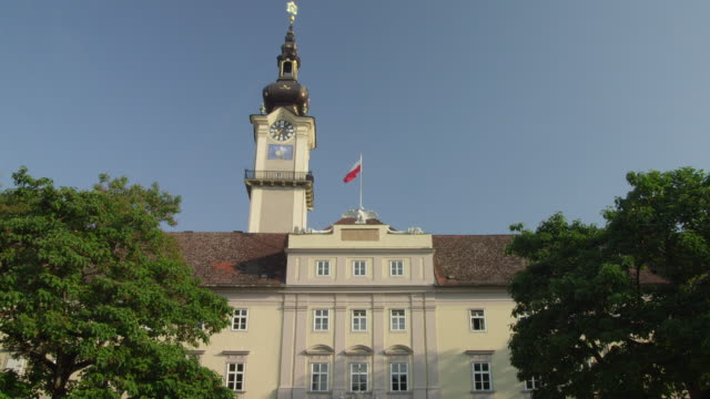 WS LA the Landhaus, the seat of the regional government of Upper Austria province with the Landhausturm (tower)