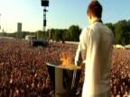The last Olympic cauldron is lit