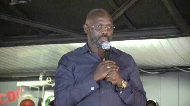 The leader of Liberia's main opposition party George M Weah cautions his partisans to remain nonviolent as the National Elections Commission...