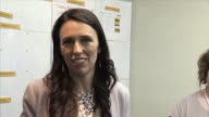 The leader of the Labour party Jacinda Ardern on the campaign trail at a medical center in Wellington ahead of the New Zealand general election on...