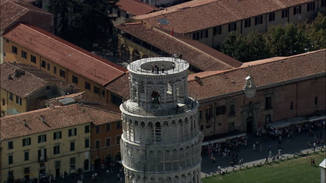 Der Schiefe Turm von Pisa-Luftaufnahme-Tuscany, Pisa, Italien