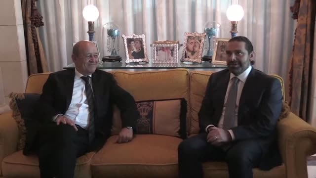 The Lebanese Prime Minister Saad Hariri who resigned earlier this month on Thursday met the French Foreign Minister Jean Yves Le Drian in the...