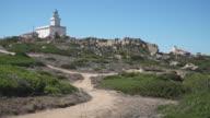 the lighthouse of Capo Testa, Olbia-Tempio. Santa Teresa di Gallura, peninsula eroded by winds