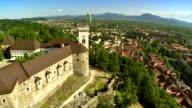 WS AERIAL The Ljubljana Castle