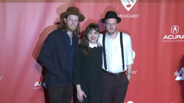 The Lumineers Wesley Schultz Neyla Pekarek Jeremiah Caleb Fraites at MusiCares Person of the Year Honoring Tom Petty in Los Angeles CA