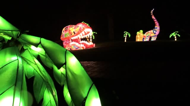 The Magical Lantern Festival opens in Roundhay Park in Leeds Over 30000 bulbs are used in the festive display that is open until January 1