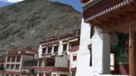 The main premises and praying rooms of the Rizong Buddhist Monastery in Ladakh, India