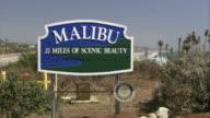 MS The Malibu village welcome sign / California