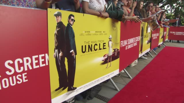 ATMOSPHERE 'The Man from UNCLE' UK Premiere at Somerset House on August 07 2015 in London England
