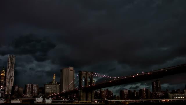 The Manhattan Bridge, New York City.