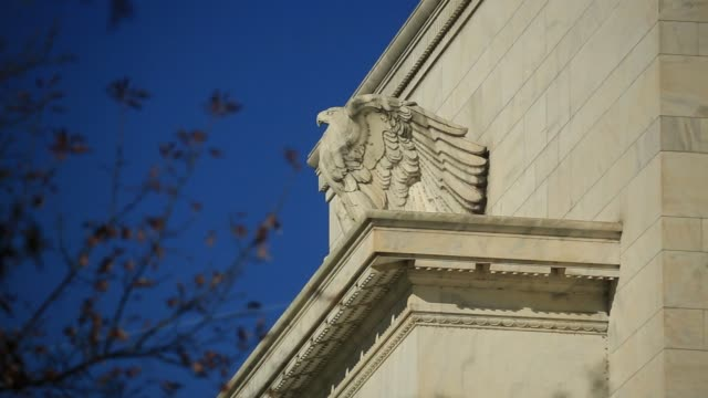 The Marriner S Eccles Federal Reserve building stands in Washington DC US on Friday Nov 17 2017 Photographer Andrew Harrer � Shots three CUs of eagle...