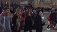 The Masses Crossing the Streets in Manhattan
