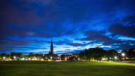 The Meadows, Edinburgh at Night - Time Lapse