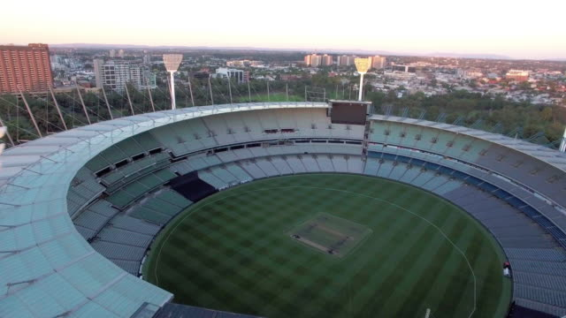 The Melbourne Cricket Ground at sunset, MCG Melbourne.