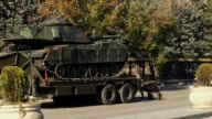 the Military tanks are seen removed from Turkish General Staff building after the Parallel State/Gulenist Terrorist Organization's failed coup...