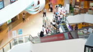The modern shopping mall with customers
