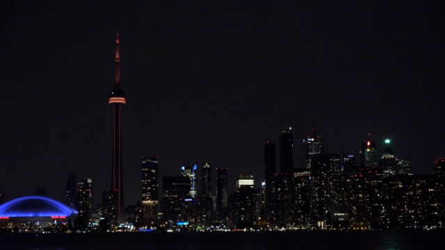 The Modern Toronto Skyline During the Night