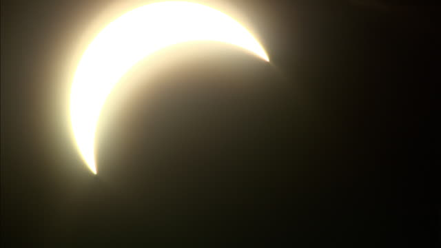 The moon blocks out more than three-quarters of the sun in a solar eclipse.