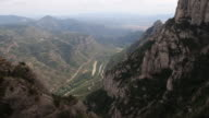 The mountains of Montserrat in Spain