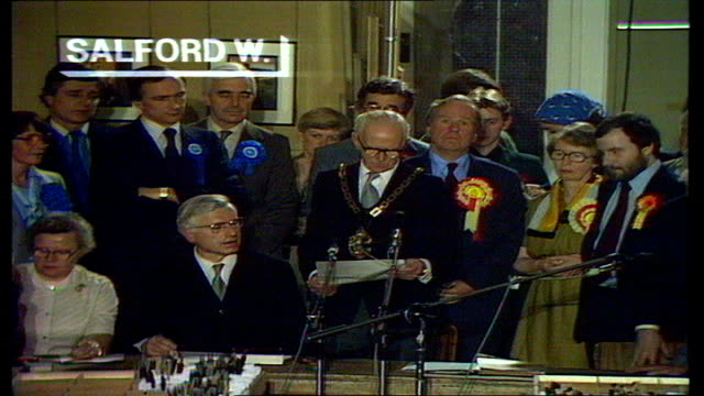 The Nation Decides General Election Special SALFORD Salford West declaration THROUGHOUT