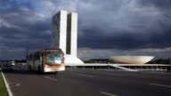 The National Congress building stands on October 27 in Brasilia Brazil