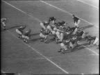 The National Pro Football Title between the Washington Redskins vs the Chicago Bears / Redskin Bob Masterson kicks a field goal / Redskin Andrew...