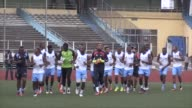 The national team of the Democratic Republic of Congo trains ahead of World Cup qualifier against Guinea
