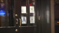 The New York City Department of Health Restaurant Grades Letter A Grade in Front of Restaurant on October 25 2013 in New York New York