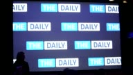 The News Corporation announces the launch of The Daily an electronic newspaper designed for the Apple iPad February 2 2011 at the Guggenheim Museum...
