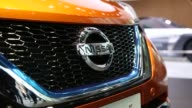 The Nissan Note EPower hybrid vehicle sits displayed at Nissan Motor Co's Nissan Crossing showroom in the Ginza district of Tokyo Japan on Wednesday...