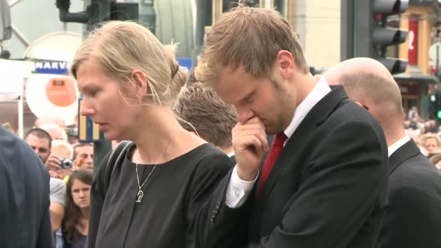 The Norwegian royal couple Prime Minister Jens Stoltenberg and other ministers attended a sombre mass at Oslo cathedral on Sunday in memory of the 93...