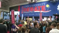 The Obama and Romney campaigns rushed the media spin alley at onday's presidential debate each claiming victory for their candidate as he seeks to...