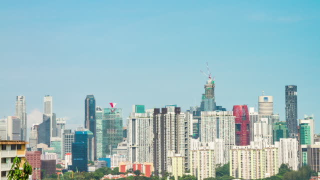 4K TIME LAPSE : The office building at Singapore (APPLE ProRes. 422(HQ) 4096X2160 FORMAT).