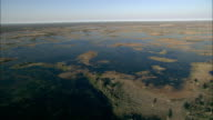 The Okavango Delta stretches toward a distant horizon. Available in HD.
