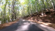 the old road through hilly terrain, GoPro