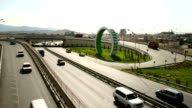 TL The Olympic rings near the road junction / Russia, Sochi, Adler