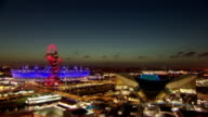 the Olympic stadium shot in timelapse at sunset on the night of the opening ceremony for the London 2012 Paralympics TimeLapse Paralympics Sunset at...