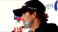 Adam Scott ENGLAND Lancashire Southport Royal Birkdale EXT Adam Scott press conference SOT Talks about The Open Golf Championship and his prospects