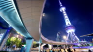 The Oriental Pearl Tower and Pearl Ring Roundabout, Shanghai, China