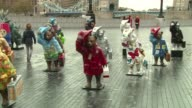 The Paddington Trail was launched in London on Monday featuring colourful statues of Paddington Bear