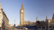 The Palace of Westminster from Parliament Square in London.