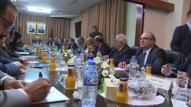 """The Palestinian unity government convened in the Gaza Strip on Tuesday for the first time since it was formed in 2014 """"The government is resolved to..."""
