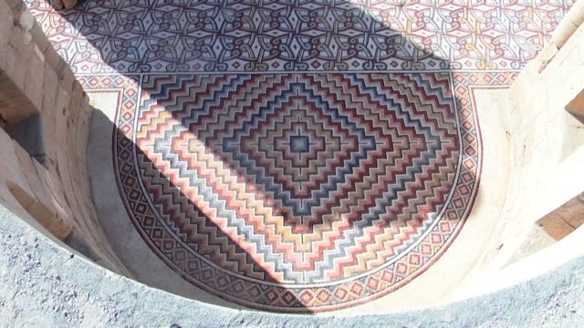 The Palestinians on Thursday gave a rare glimpse of one of the Middle Easts finest mosaic floors near the occupied West Bank city of Jericho