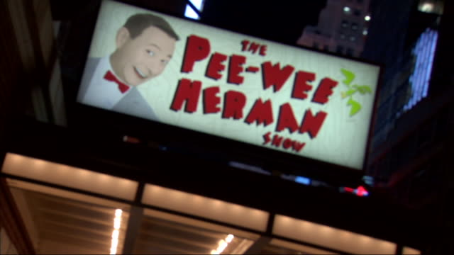 PANS 'The Pee Wee Herman Show' w/ picture lighted side marquee at the Stephen Sondheim Theatre