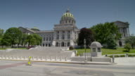 The Pennsylvania capital building in Harrisburg PA daytime