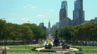 The Philadelphia Skyline and Eakins Oval