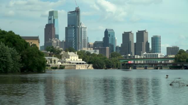 The Philadelphia Skyline And The Schuylkill River